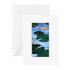 Lotus Artglass Greeting Cards