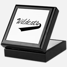 Wildcats Lettering Keepsake Box