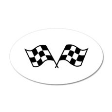 Checkered Racing Flags Wall Decal