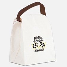 Silly Boys Racing Is For Girls Canvas Lunch Bag