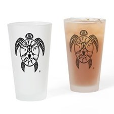 Turtles Unite Drinking Glass