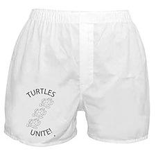 Turtles Unite  Boxer Shorts