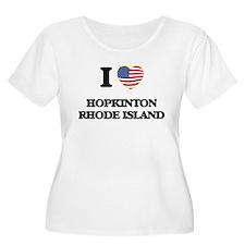 I love Hopkinton Rhode Island Plus Size T-Shirt