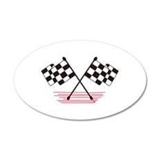 Crossed Checkered Flags Wall Decal