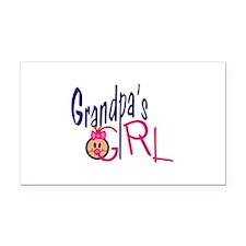 Grandpas Girl Rectangle Car Magnet
