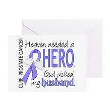 Prostate Cancer HeavenNeededHero1 Greeting Card