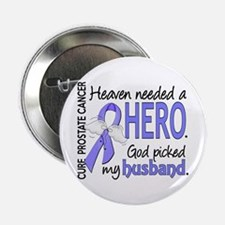 """Prostate Cancer HeavenNeede 2.25"""" Button (10 pack)"""