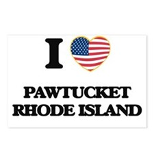 I love Pawtucket Rhode Is Postcards (Package of 8)