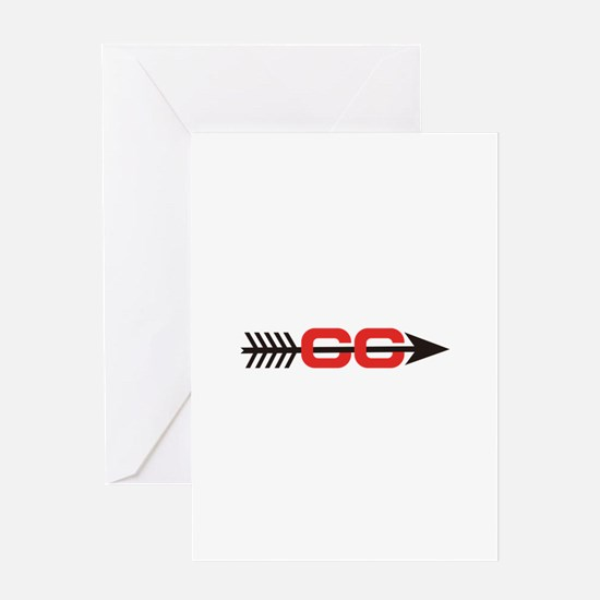Cross Country Logo Greeting Cards