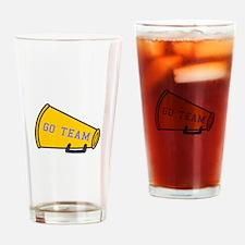 Go Team Megaphone Drinking Glass
