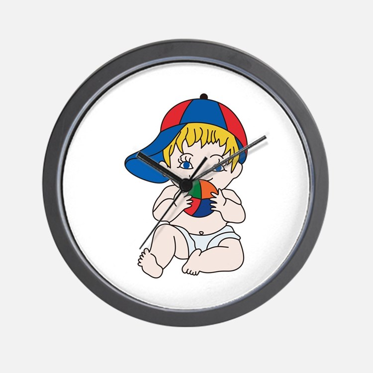 Baby Boy with Ball Wall Clock