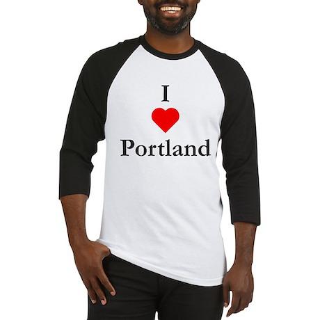 I Love Portland Baseball Jersey