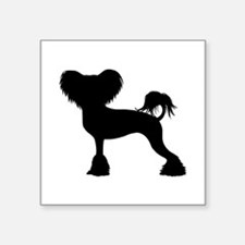 """Chinese Crested Square Sticker 3"""" x 3"""""""