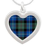Tartan - Lochaber dist. Silver Heart Necklace