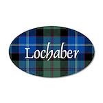 Tartan - Lochaber dist. 35x21 Oval Wall Decal