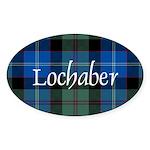 Tartan - Lochaber dist. Sticker (Oval)