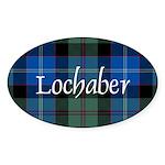 Tartan - Lochaber dist. Sticker (Oval 10 pk)