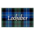 Tartan - Lochaber dist. Sticker (Rectangle)