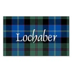 Tartan - Lochaber dist. Sticker (Rectangle 50 pk)