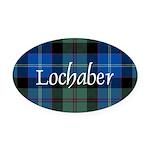Tartan - Lochaber dist. Oval Car Magnet