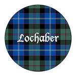 Tartan - Lochaber dist. Round Car Magnet