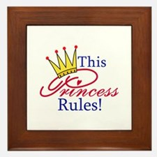 This Princess Rules! Framed Tile