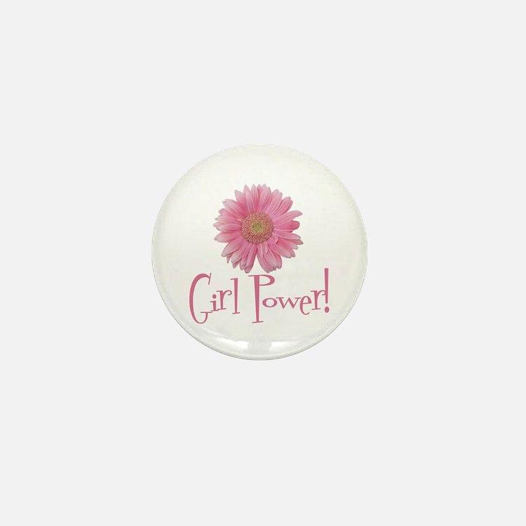 Girl Power Daisy Mini Button
