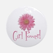 Girl Power Daisy Ornament (Round)