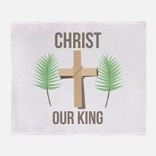 Christ Our King Throw Blanket