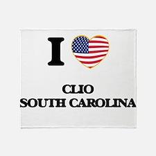 I love Clio South Carolina Throw Blanket