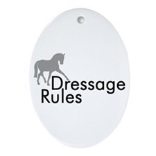 Dressage Rules Sidepass Oval Ornament