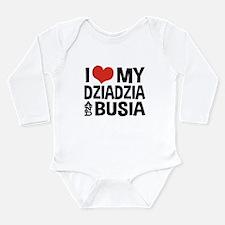 Dziadzia and Busia Long Sleeve Infant Bodysuit