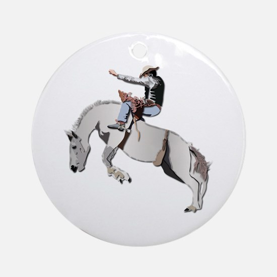 Bronc Rider Round Ornament