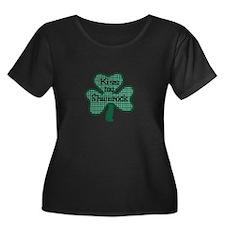 Kiss My Shamrock Plus Size T-Shirt