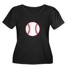 Baseball Applique Plus Size T-Shirt