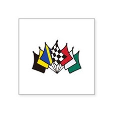 7 Racing Flags Sticker