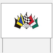 7 Racing Flags Yard Sign