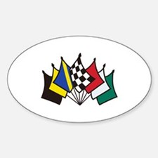 7 Racing Flags Decal