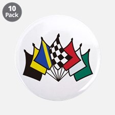 """7 Racing Flags 3.5"""" Button (10 pack)"""