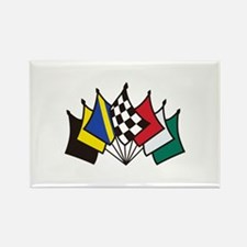 7 Racing Flags Magnets