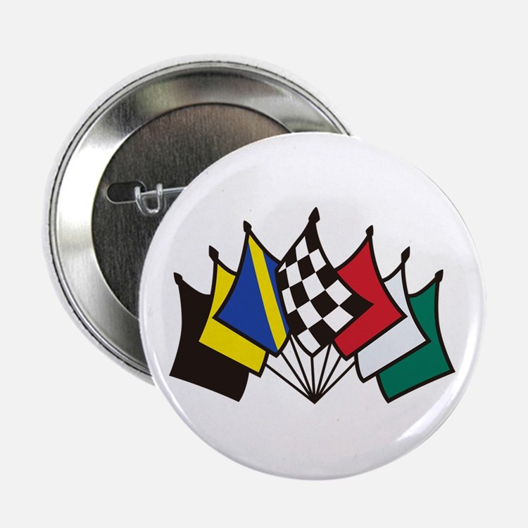 """7 Racing Flags 2.25"""" Button (10 pack)"""