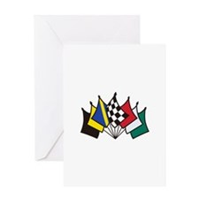 7 Racing Flags Greeting Cards