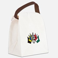 7 Racing Flags Canvas Lunch Bag