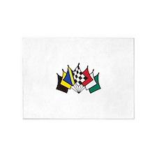 7 Racing Flags 5'x7'Area Rug