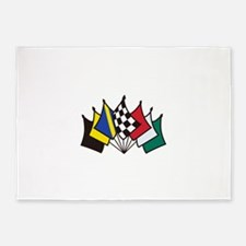 7 Racing Flags 5'x7'Area Rug