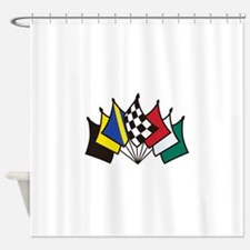 7 Racing Flags Shower Curtain