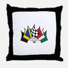 7 Racing Flags Throw Pillow