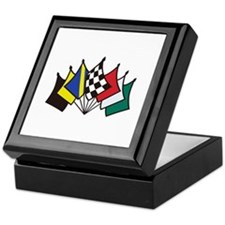 7 Racing Flags Keepsake Box