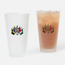 7 Racing Flags Drinking Glass