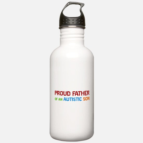 Proud Father Of An Autistic Son Water Bottle